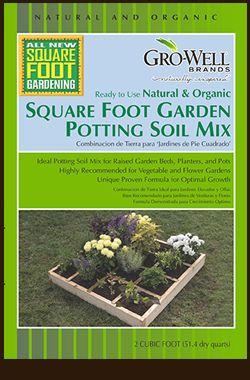 Merveilleux GRO WELL Square Foot Garden Potting Soil Mix